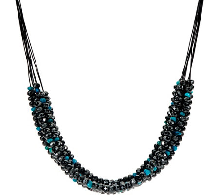Hematite & Turquoise Bead 10 Strand Necklace by American West
