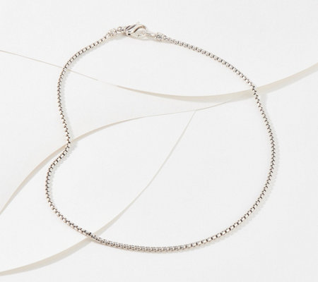 "JAI Sterling Silver 72"" Round Box Chain Necklace"