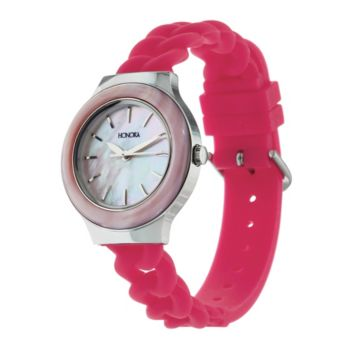 Honora Mother-of-Pearl Silicone Strap Stainless Steel Watch