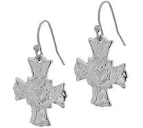 My Saint My Hero Sacred Heart of Jesus Cross Earrings - J348380