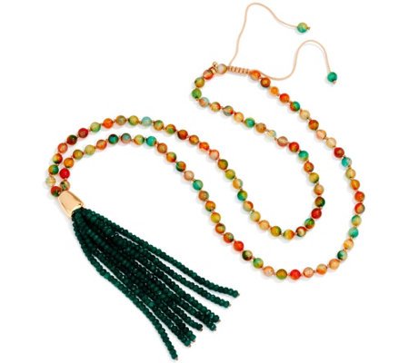 Lola Rose Canterbury Beaded Tassel Necklace
