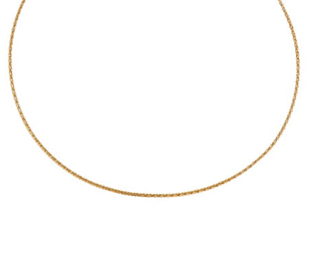 """As Is"" Italian Gold 18"" Mesh Omega Necklace 14K Gold, 2.4g"