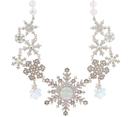 Kirks Folly Seaview Moon Snowflake Necklace