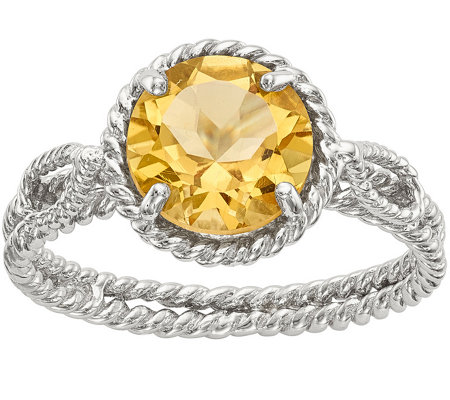Sterling 1.80 ct Round Citrine Ring