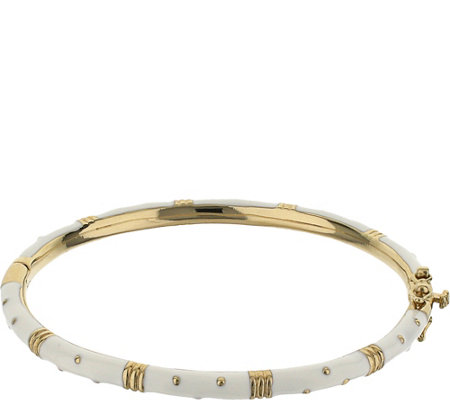 Lauren G Adams Goldtone Polka Dot Colored Enamel Bangle