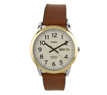 Timex Men's Easy Reader Watch with Brown Leathe r Strap - J102881