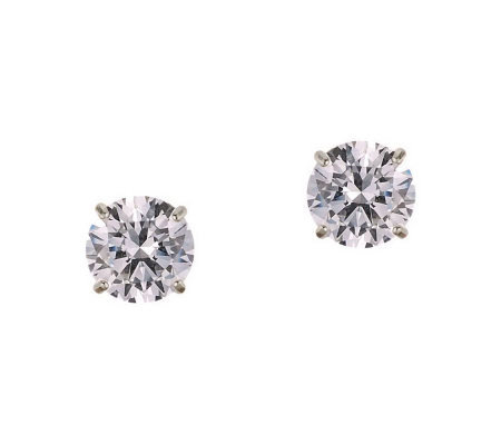 Diamonique 2.00 ct tw Round Stud Earrings, 14KGold