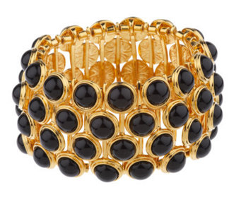 Linea by Louis Dell'Olio Black Bead Stretch Bracelet - J154281