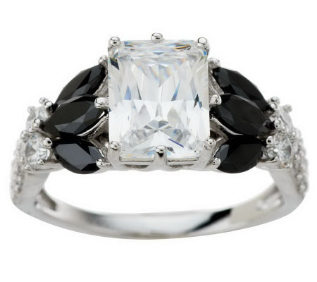 Epiphany Diamonique 4.45 ct tw Radiant Cut Fancy Ring