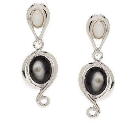 Carolyn Pollack Pebble Beach Sterling Earrings