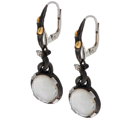 Dweck Diamonds Black Fortuna Gemstone Doublet Drop Earrings