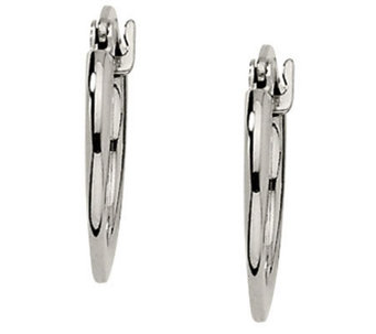 Stainless Steel Tapered Hoops - J302181