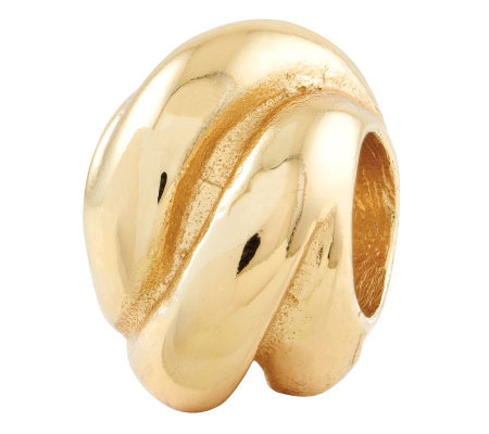 Prerogatives Gold-Plated Sterling Wrap Bali Bead
