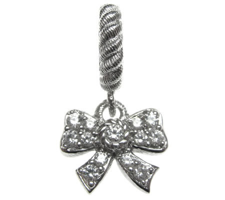 Judith Ripka Sterling Diamonique Bow Charm