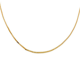 "Veronese 18K Clad 20"" Polished Box Chain - J304681"