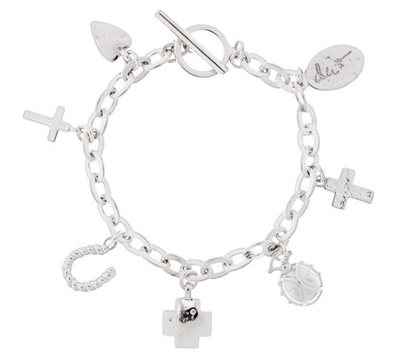 "Shawn's ""Courage Charms"" Sterling 8"" Bracelet 33.1g"