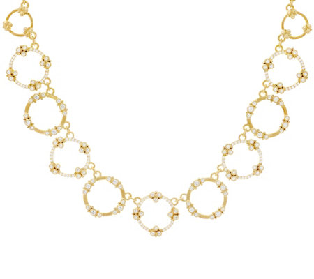 "Judith Ripka 14K Clad 4.90 cttw Garland Diamonique 18"" Necklace"