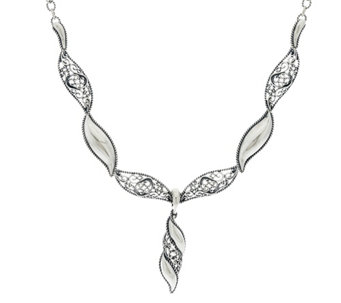 Carolyn Pollack Sterling Silver Signature Wave Necklace & Enhancer - J329581