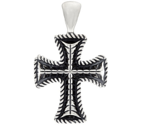 Sterling Silver Heart or Cross Bold Enhancer by American West