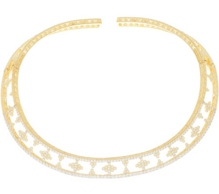 Judith Ripka 14K Clad 7.50 cttw Diamonique Collar Necklace
