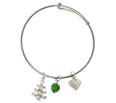 Catherine Galasso Christmas Tree Bangle Bracelet