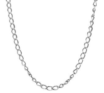 "Sterling 28"" Antiqued Cable Chain Necklace, byAmerican West - J338981"
