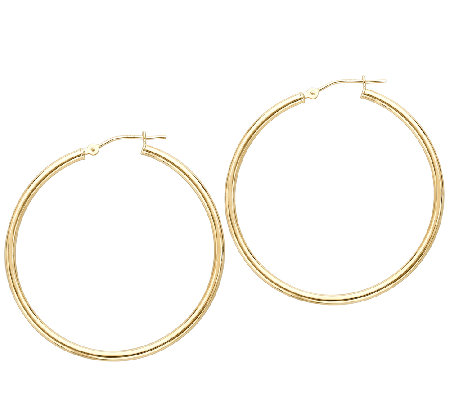 "EternaGold 2"" 14K Gold Polished Tube Hoop Earrings"