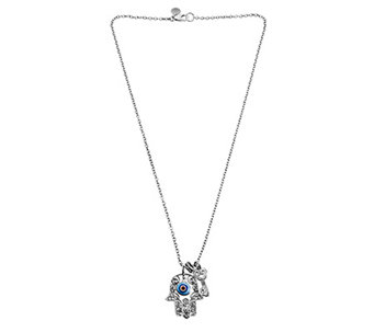 Sterling Evil Eye Hamsa Necklace by Or Paz - J341581