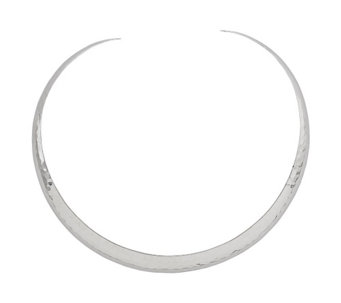 Sterling Silver Hammered Slip-on Collar b y Silver Style - J342081