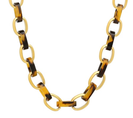 "Stainless Steel 18"" Rolo Link Necklace"