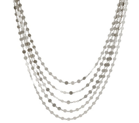 """As Is"" Bianca 18"" Polished Multi-strand Necklace 14.0g"