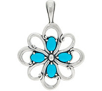 Carolyn Pollack Sleeping Beauty Turquoise Sterling Pendant - J351881