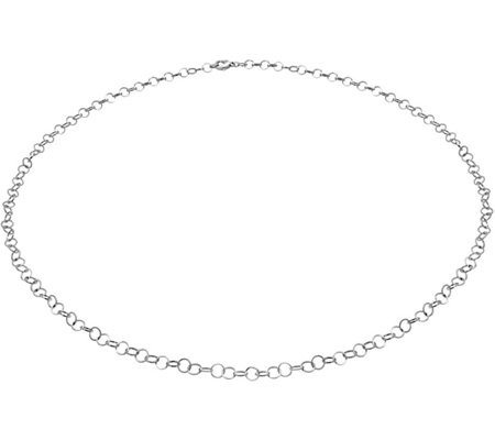 "Stainless Steel 24"" Circle Link Necklace"