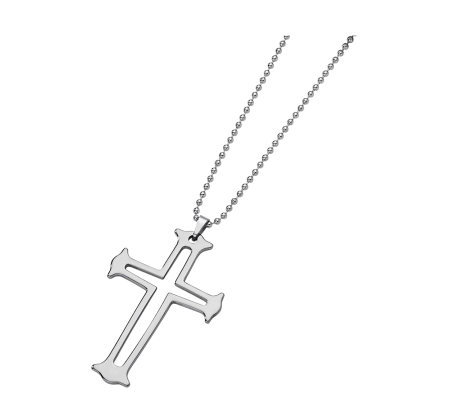 Forza Tungsten Cross Necklace