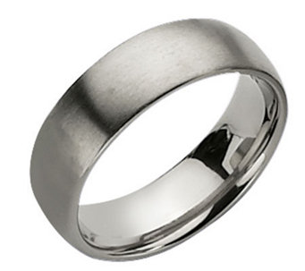Titanium 7mm Brushed Ring - J109982