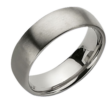 Titanium 7mm Brushed Ring