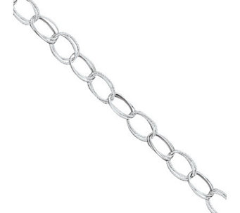 Sterling Fancy Link Anklet - J111382