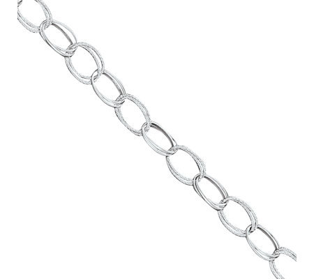 Sterling Fancy Link Anklet
