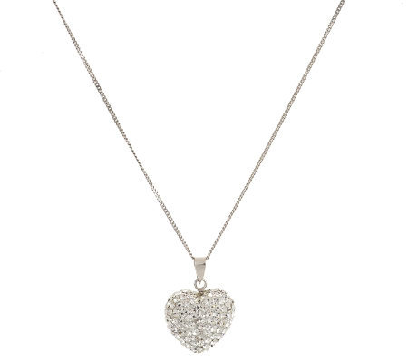 Killarney Crystal Puffed Heart Pendant Necklace