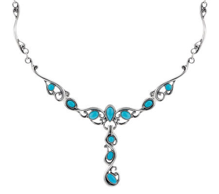 Carolyn pollack sleeping beauty turquoise sterling neckla for Carolyn pollack jewelry qvc