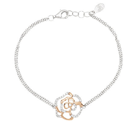 Jean Butler Sterling Silver & Gold Plated Irish Rose Bracelet