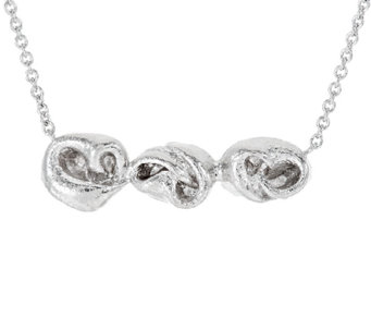 Mary Esses Sterling Horizontal Knot Necklace - J290582
