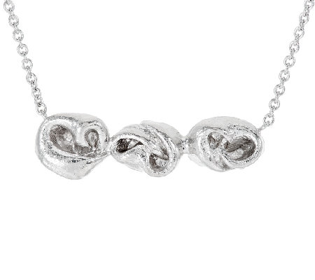 Mary Esses Sterling Horizontal Knot Necklace