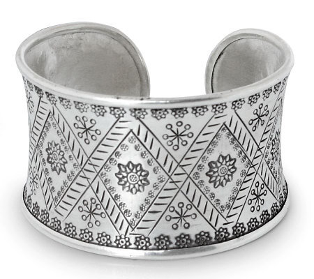 "Novica Artisan Crafted Sterling ""Sunflower"" Cuff"