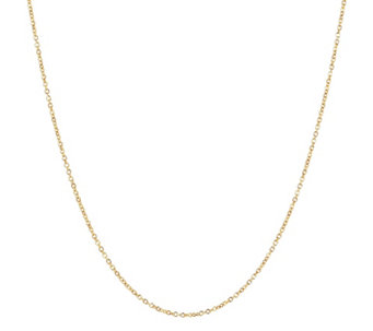 "Milor 24"" Fine Polished Oval Rolo Link Chain,14 K Gold - J307882"