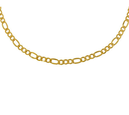 "18"" Polished Figaro Necklace, 14K Gold 7.60g"