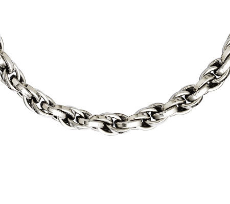 "Stainless Steel 24"" Oval Link Chain Necklace"