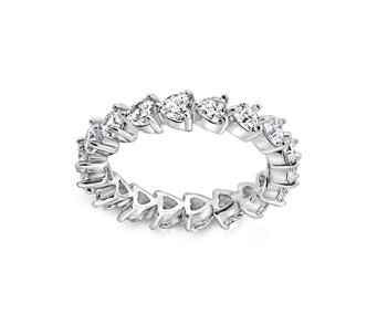 Diamonique 1.80 cttw Eternity Band Ring, Platinum Clad - J309782