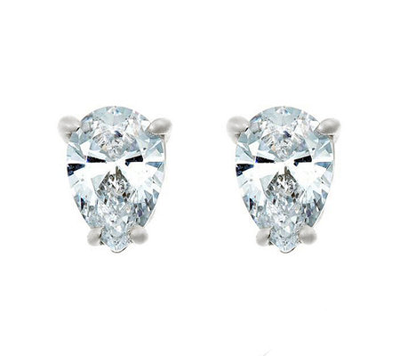 Pear Diamond Stud Earrings, 14K, 1/4cttw, by Affinity