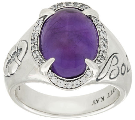 Scott Kay 4.00 ct Amethyst & Diamonique Sterling Ring